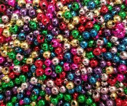 1,000 pcs Assorted Metallic Artificial Plastic Pearls 5mm Ro
