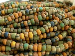 6/0 Czech Seed Beads- Earthy Matte Tube Aged Picasso Mix #6