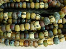 6/0 Czech Seed Beads- Matte Woodland Striped Aged Picasso M