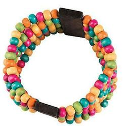 1 Bright Beaded Bracelet Kit Wooden beads Very Colorful Teen