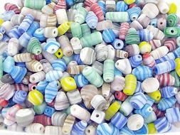 1 lb Glass Beads Jewelry Making Mix Shape Matte Shell lookin