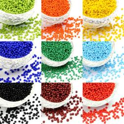 1 Pound Wholesale Glass Seed Beads Opaque Smooth Round Loose