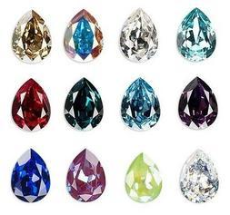 1 - Swarovski crystal rhinestone embellishment 18x13mm Pear