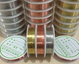 1 Roll Brass Silver Gold Soft Copper Wire line for DIY Jewel