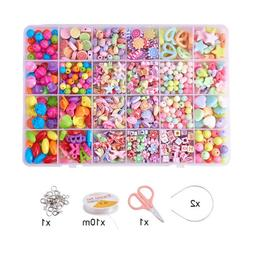 1 Set Acrylic Beads Accessories with Tools for Child DIY Bra