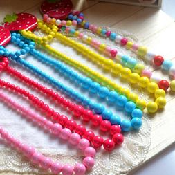 1 set Newest Design Kid Necklace Jewelry Beads Baby Girl Nec