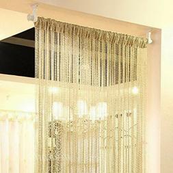 1-String Door Curtain Beads Divider Tassel Crystal Fringe Wi