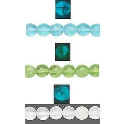 10 Czech Glass 8mm Round Glow in the Dark Beads Choose Your