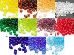 10 Grams of 180 Miyuki Glass Drop Fringe Seed Beads In Many