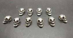 10 Metal Skull Beads  Paracord Bracelets 14mm - US Seller