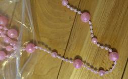 10 Strings 20mm Faceted,8mm Faceted& 2mm Smooth Pink Iridesc