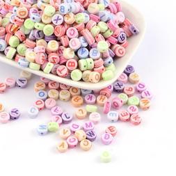 100 BULK Beads Alphabet Letter Beads Assorted Lot Wholesale