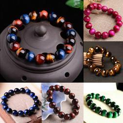 100% Natural Gemstone Tigers Eye Stone Beads Women Men's Bra