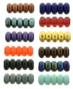 100 Tiny Czech Glass Rondelle Spacer Beads 3MM Opaque And As