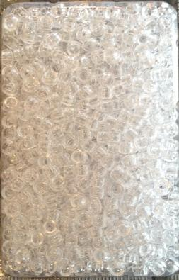 1000 clear pony beads for braids/cornrows/twists etc or craf