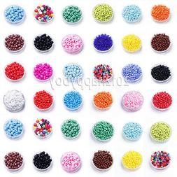 1000 Pcs 2mm Czech Glass Pearl Seed Loose Spacer Beads Jewel