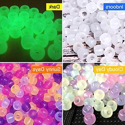 Korlon 1000 Pcs UV Beads Color Changing Sun Sensitive UV Rea