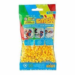 1000 Hama Yellow Color 207-03 Iron On Midi Beads