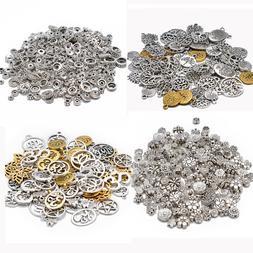 100g Tibetan Silver Mixed Spacer Beads Charms Pendant Bali S