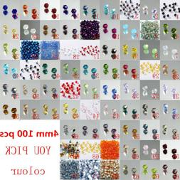 100pcs 4mm #5301 Austria Crystal beads for Jewelry marking n