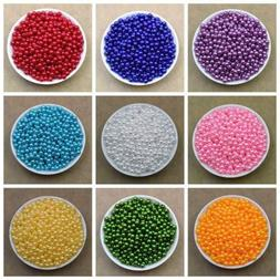 Lot 100X 6mm 8mm 20 Colors Pearl Spacer Beads Craft ABS Plas