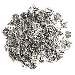 100pcs Bulk Tibetan Silver Mix Charm Pendants Jewelry Making