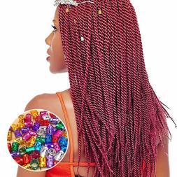 100pcs Hair Braid Ring Beads Dreadlocks Cuff For Hair Extens