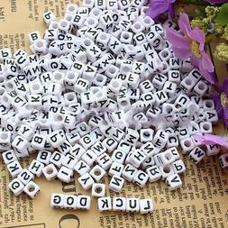 100pcs/pack DIY Mixed Alphabet Beads Acrylic Letters Wood Be