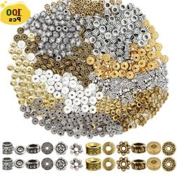 100pcs Spacer Beads Charm Spacer Alloy for Jewelry Making DI