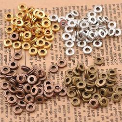 100Pcs Tibetan Silver Charms DIY Spacer Beads For Jewelry Fi