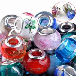 100Pcs Wholesale Lots Bulk Murano Glass Beaded Charms Spacer