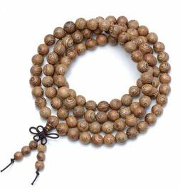 108PCS 8mm African Wenge Wood Sennawood Siamese Mala Beads R