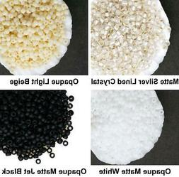 10g Matte Frosted Round Glass Japanese TOHO Seed Beads 11/0
