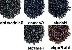10g Metallic Round Glass Japanese TOHO Seed Beads 11/0 2.2mm