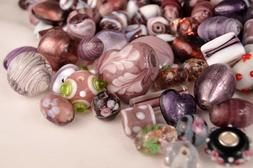 10mm to 35mm Mixed Glass Lampwork Beads