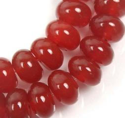 10x6mm Carnelian Agate Rondelle  Beads