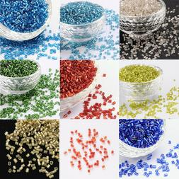 11/0 2.2mm Two Cut Silver Lined Round Hole Glass Seed Beads
