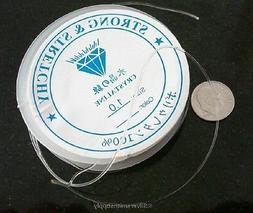 12' Clear 1mm elastic bead stringing thread beading cord 4m