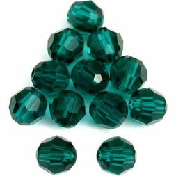 12 Emerald Round Swarovski Crystal Beads 5000 4mm