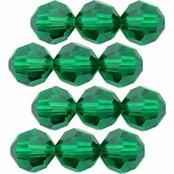 12 Emerald Swarovski Crystal Round Beads 5000 3mm