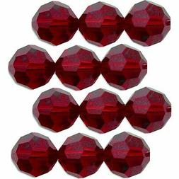 12 Garnet Round Swarovski Crystal Beads 5000 3mm