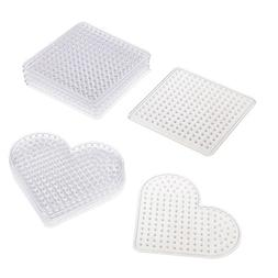12 Pcs 5mm Clear Perler Hama Beads Pegboard DIY Kids Craft E