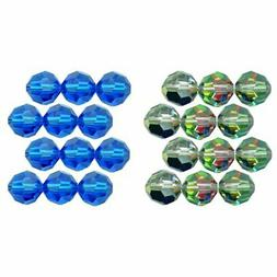 12 Round Swarovski Crystal Beads 3mm Vitrail Medium New Blue