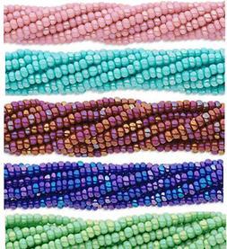 12 Strands Preciosa Czech Glass Seed Beads Size 11/0 Rainbow