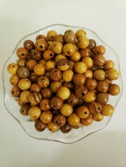 100 Round 10mm Olive Wood Beads from the Holy Land 2mm Hole