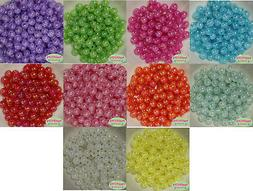 12mm Mixed Color Acrylic Crackle Style Bubblegum Beads Lot 1