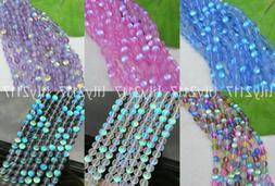 12MM Mystic Quartz Multi-Color Gems Loose Beads Holographic