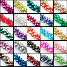 12mm Top Quality Czech Glass Pearl Round Beads 16'' Wholesal
