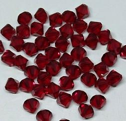 12pc Swarovski Crystal 5mm Siam  Bicone 5328 Beads; January