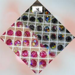 12PCs #5000 Swarovski Crystal AB Coating 10mm Round Beads pi